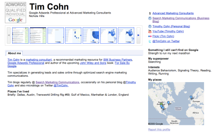 Google Profile Tim Cohn