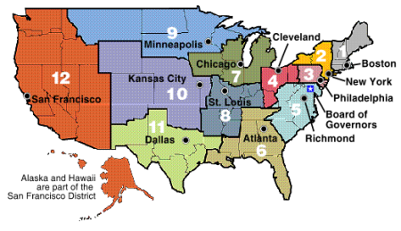 Federal Reserve Districts Map