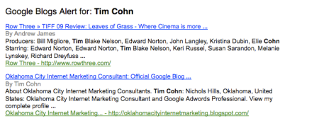 Google Blogger Alerts