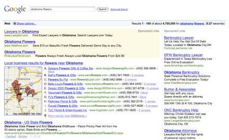 Google Search Results Ads Mixup