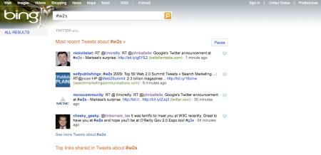 Bing Twitter #w2s
