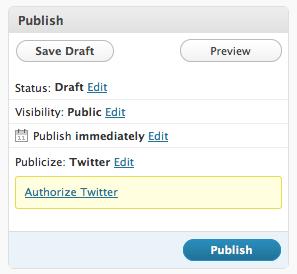 Publicize Twitter