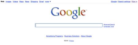 Regular Google Homepage
