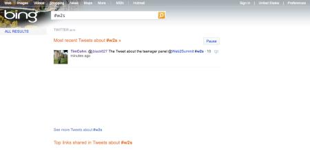 Bing Twitter Results Beta