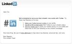 Twitter Updates in Linkedin