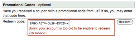 Account To Old To Redeem Adwords Coupon