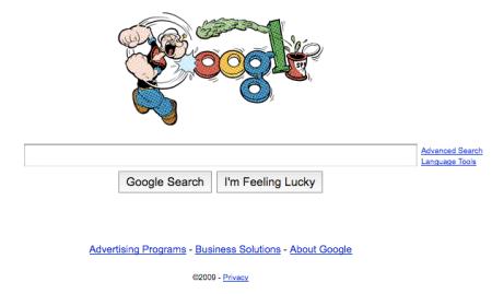 Popeye Google Doodle