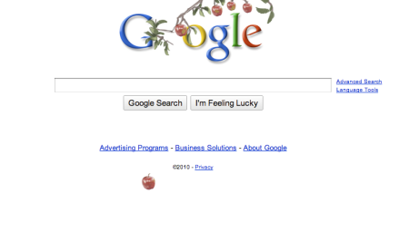 Google Isaac Newton Doodle
