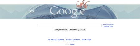 Google Doodle Winter Olympics 2010