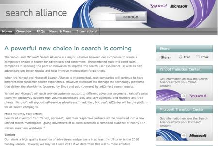 Microsoft Yahoo SearchAlliance.com