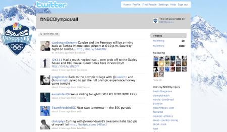 Olympian Twitter Accounts