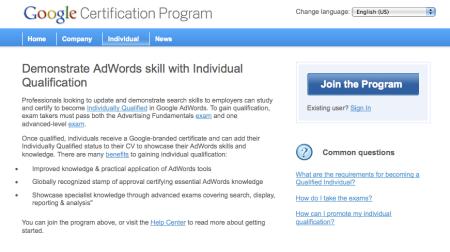Individual Qualification