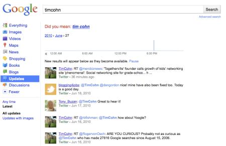 Google TwitterSearch