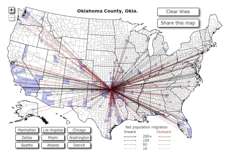 Oklahoma County, OK Net Population Migration