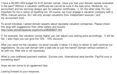 Domain Offer