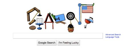Google July 4 2010 Doodle