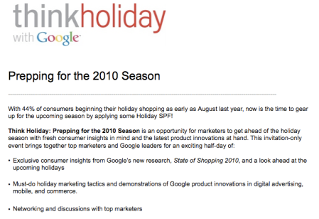 Think Holiday with Google
