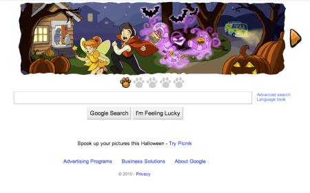 Google's Halloween 2010 Scooby Doodle
