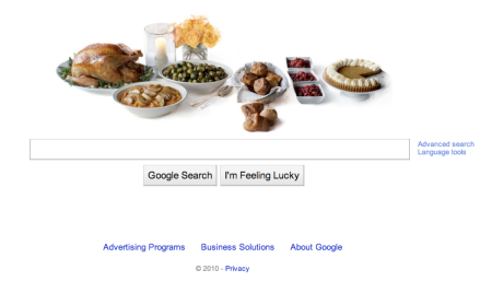 Google Thanksgiving Doodle 2010