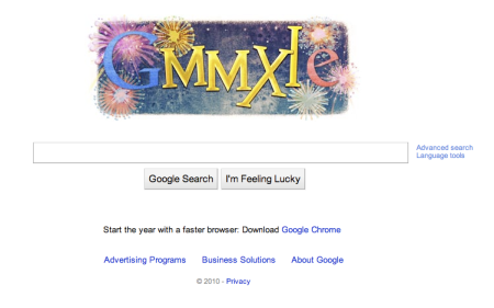Google 2011 Happy New Year Doodle