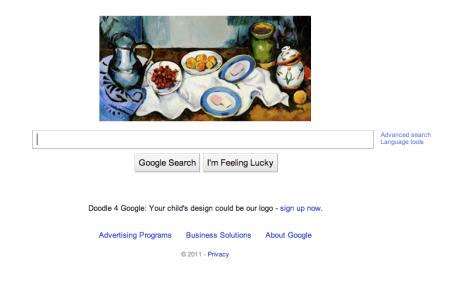 Paul Cézanne Google 2010 Doodle