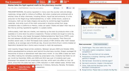 Economist Page Frame
