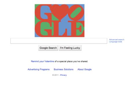 Google Valentine's Day 2011 Doodle