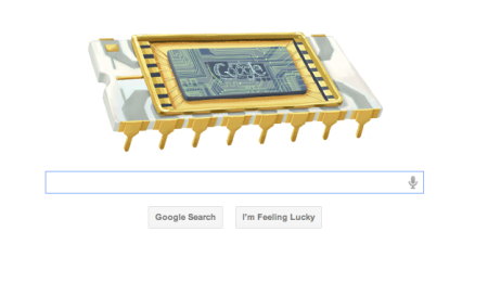 Google Robert Noyce Microchip Doodle