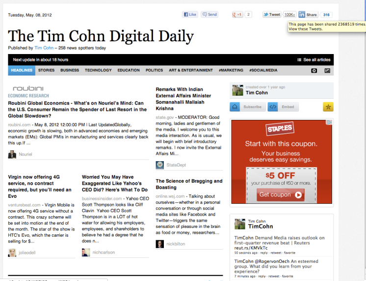 The Tim Cohn Digital Daily